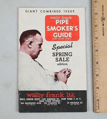 Vintage Wally Frank Pipe Smoker's Guide and Cigar Digest Catalog New York