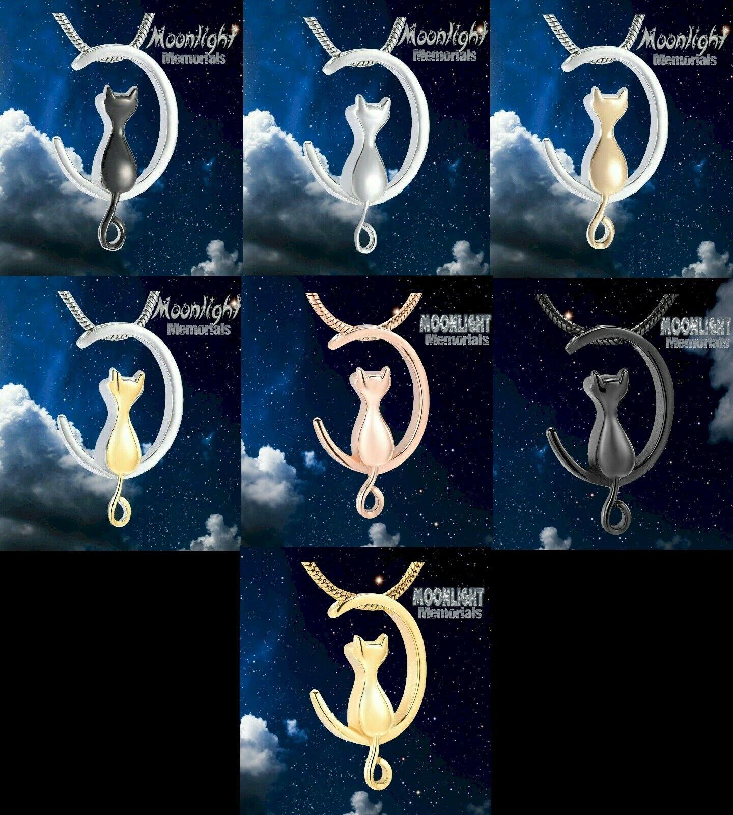 New Crescent Cat Moon Cremation Urn Keepsake Ashes Memorial