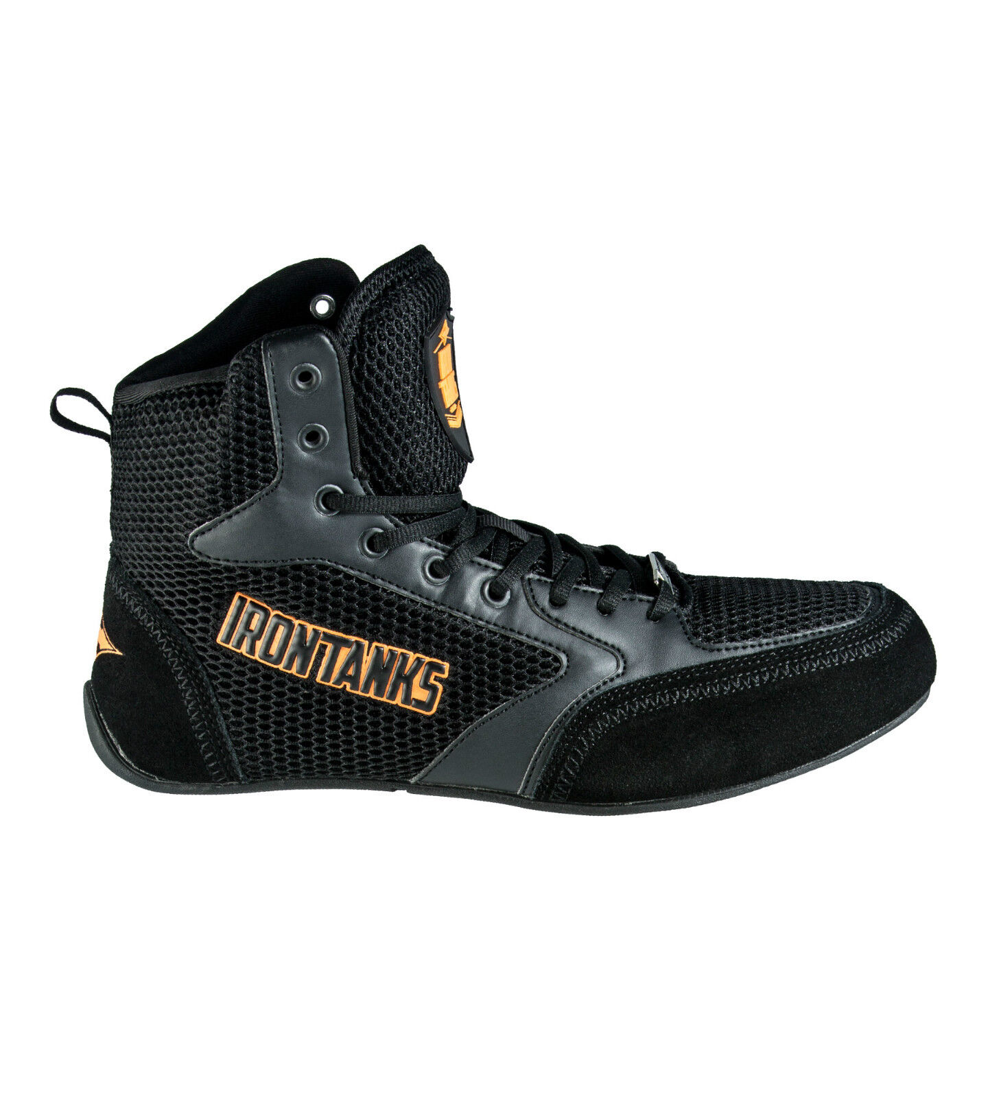 802c47ffc38f Details about TITAN MENS HIGH TOP GYM SHOES BOOTS WEIGHT LIFTING  BODYBUILDING POWER S113 BLACK