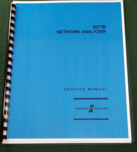 "HP 3577B Service Manual: w/11""X17"" Foldouts & 3 Ring Binder"