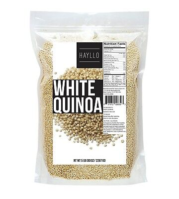 5 Lb Premium Peru Royal White Quinoa Seeds In Resealable Bag 1 3 Days Delivery