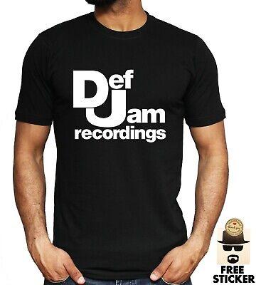Def Jam Recordings Logo T-shirt Music Jay Z Kanye Bieber Inspired Unisex Tee Top