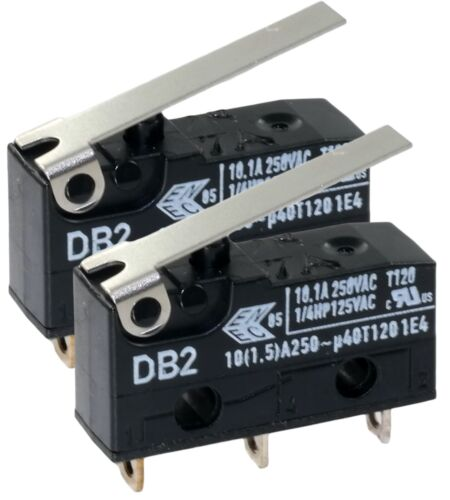 (Pack of 2) Cherry Db2ca1lb Micro Switch Hinge Lever Spdt 10.1a 250v No.59K9990