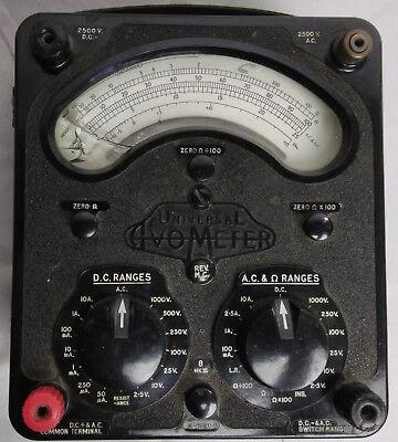 Avo Universal Avometer Vintage Model 8 Mk 3 Measurement Equipment Cracked Glass