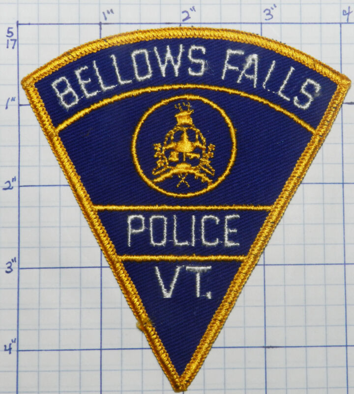 VERMONT, BELLOWS FALLS POLICE DEPT VINTAGE PATCH