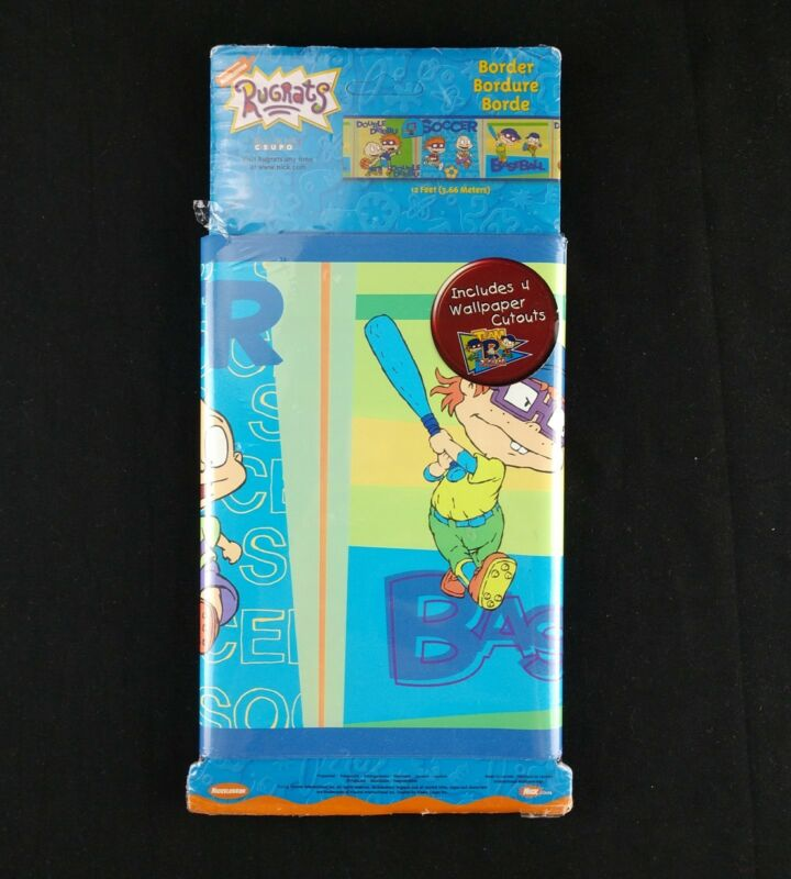 Rugrats Wallpaper Wall Border 4 yds Sports Tommy Chuckie Nickelodeon