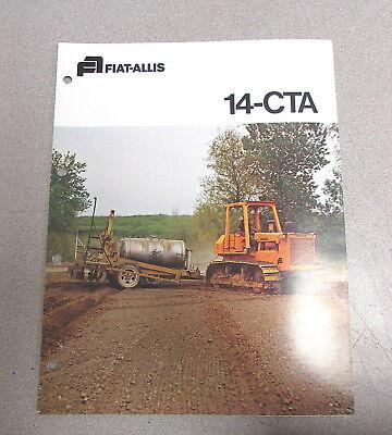 Fiat Allis 14-cta Agricultural Crawler Tractors Color Brochure Manual