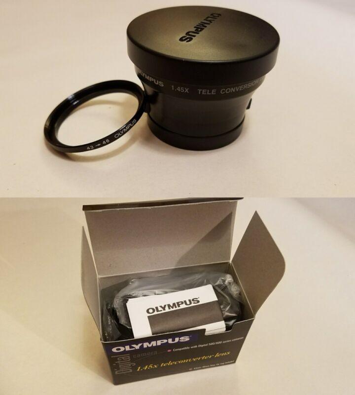 BRAND NEW NIB Olympus TCON-14 1.45X Teleconverter Lens 43mm-46mm w/ Step-Up Ring