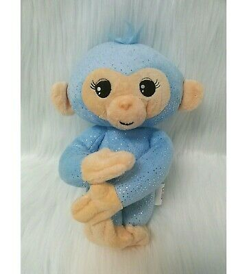 "10"" Fingerlings Baby Monkey Blue w Sound Bendable Arms & Legs Plush Toy B215"