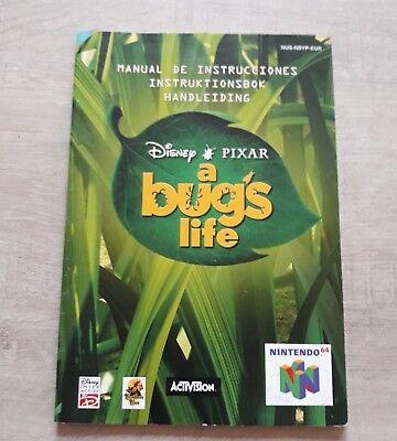 Notice manuel jeu Nintendo N64 originale Disney a bug s life