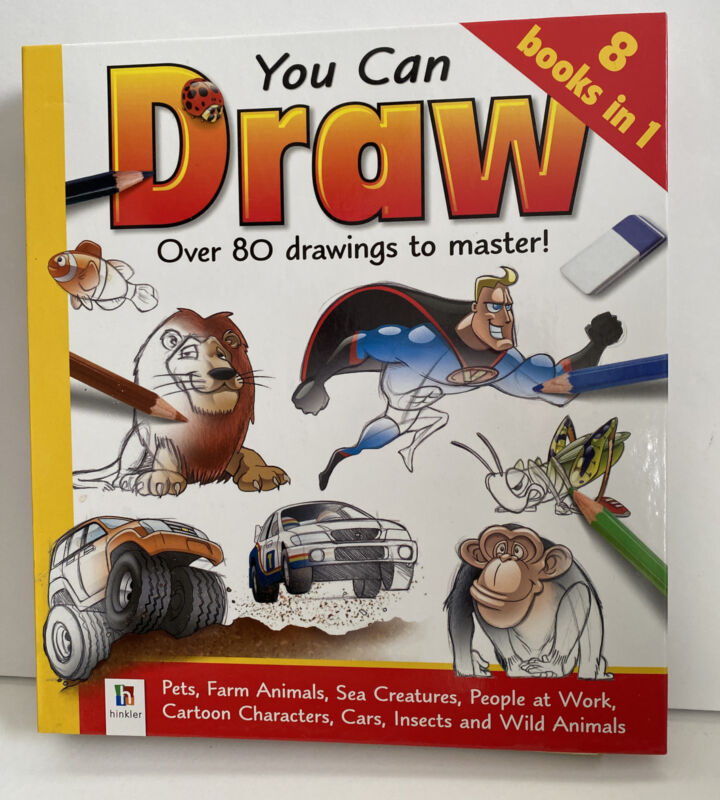 You Can Draw Drawing Instruction Book Over 80 Drawings To Master 8 Books In 1