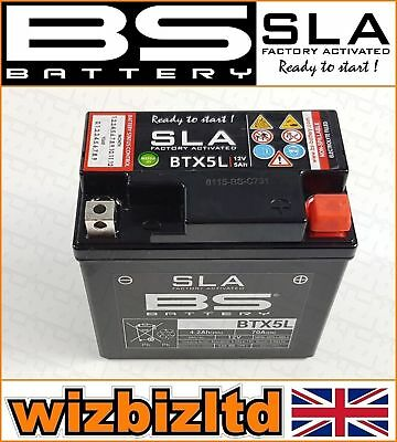 Used, BS Motorbike SLA Sealed Battery Yamaha [50cc] XF50, D Vox [2007-2009] BTX5L for sale  Corby
