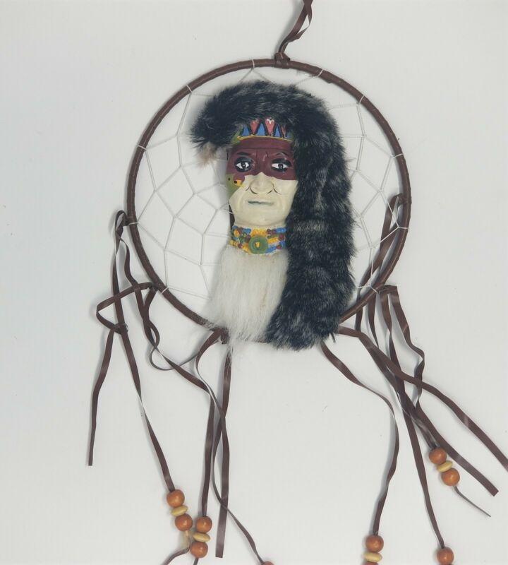Navajo Warrior Head Dream Catcher