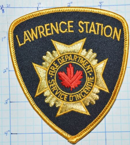 CANADA, LAWRENCE STATION FIRE DEPT SERVICE D