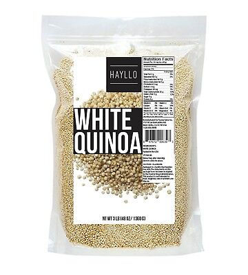 Hayllo Superfood Peru White Royal Quinoa In Resealable Bag  3 Pounds