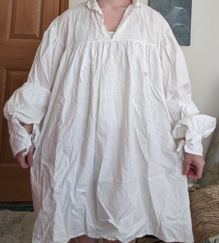 White renaissance medieval shirt cosplay LARP