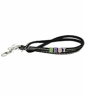 Black Silk Braided Leather Necklace Lanyard with Best