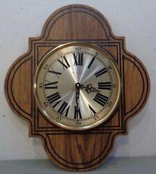 Vintage Mid Century Modern Bulova Wall Clock Retro 1960's Keeps Time