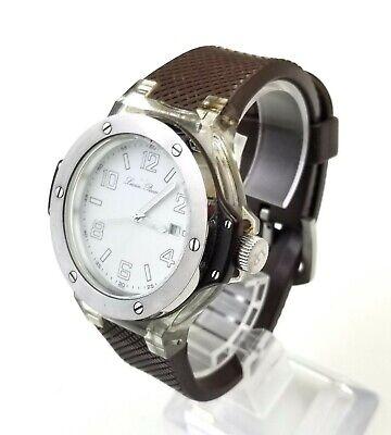 .RARE,UNIQUE Men's Watch LUCIEN PICCARD 26969WH. Rubber strap.