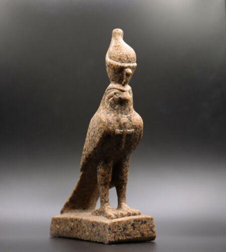 RARE ANCIENT EGYPT EGYPTIAN HORUS Antique Gods FALCON STATUE BASALT STONE BC