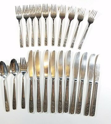 International Silver Spring Charm - 23 piece WM Rogers Stainless Flatware International Silver Suncrest-Spring Charm