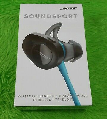 BOSE SOUNDSPORT WIRELESS IN EAR HEADPHONES *BRAND NEW* AQUA BLUE