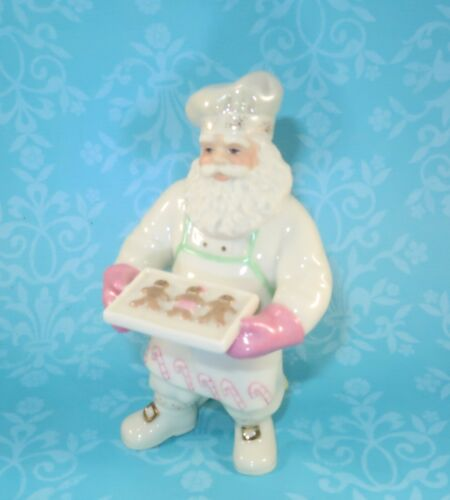 Lenox Cookies From Santa Christmas Figurine Baking Tray Chef Hat w Box & Papers