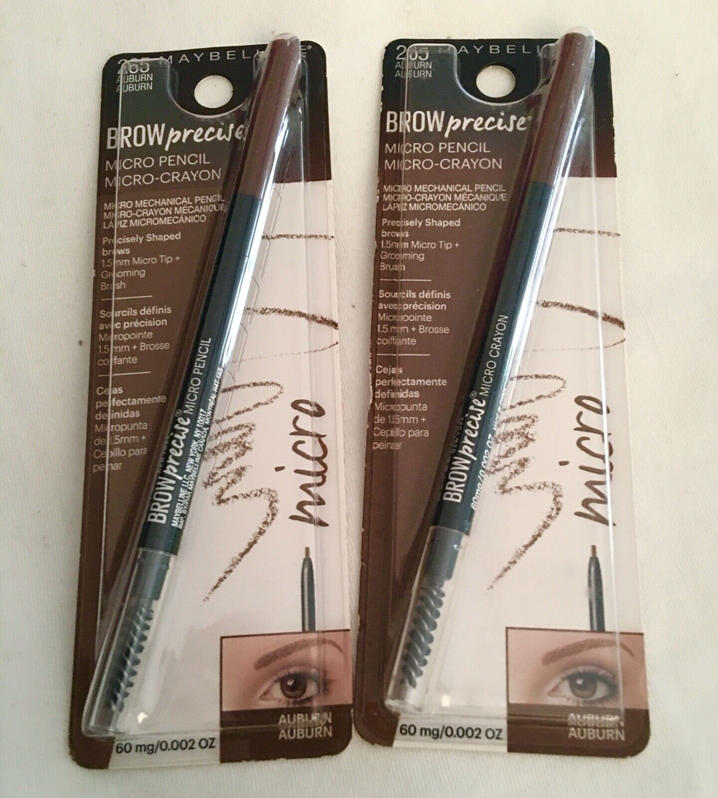 Maybelline New York Brow Precise Micro Pencil, Auburn, 0.002