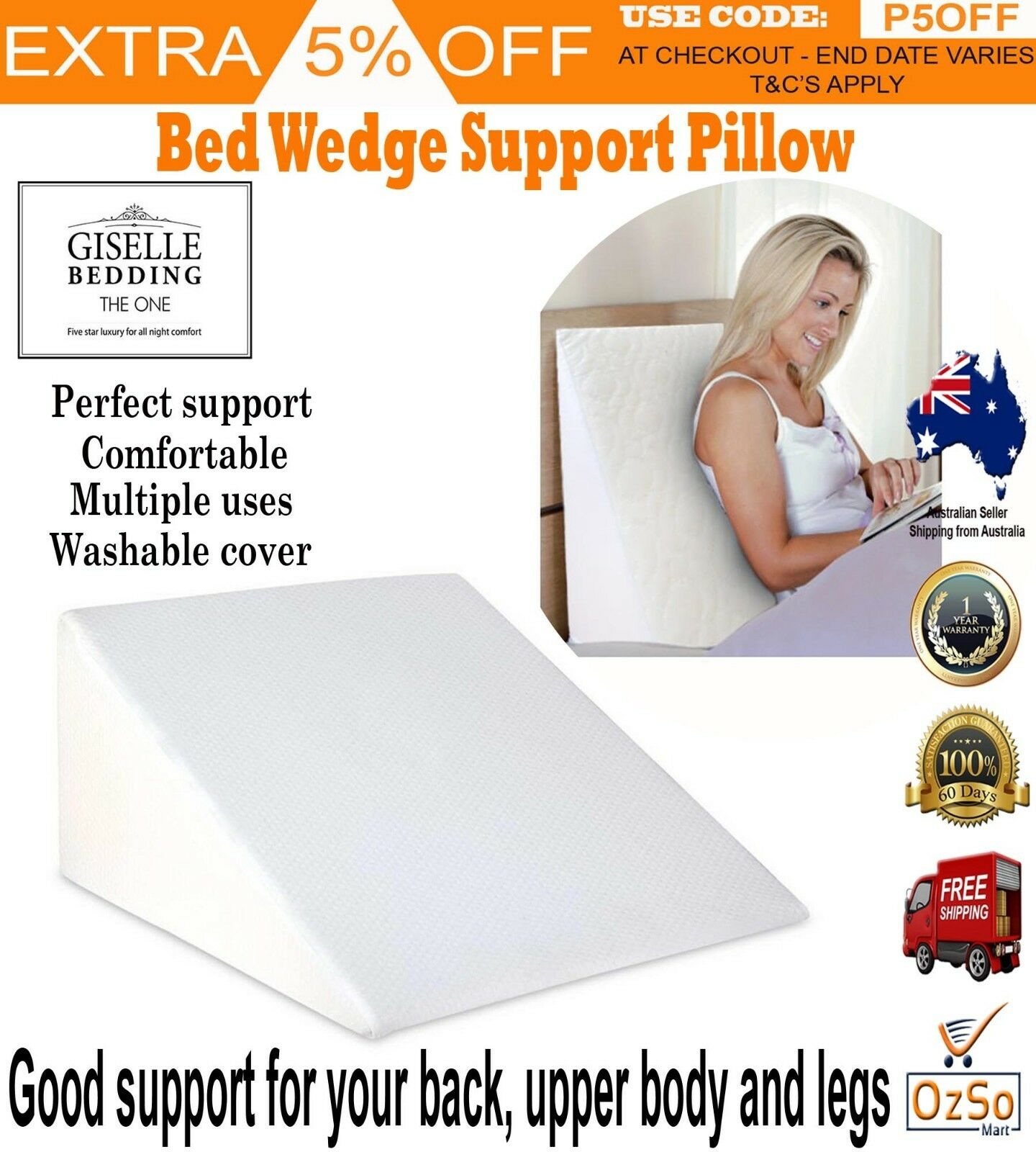 Wedge Support Bed Pillow Ebay