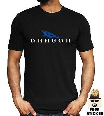 Dragon SpaceX Logo T-shirt Elon Musk Tesla Space Tech Technology Adult Kids Tee