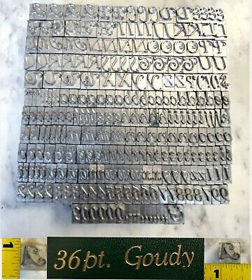 Goudy 36 Pt. Kingsley Kwikprint Stamping Machine Letter Set Upper Lower Case