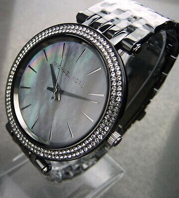 Michael Kors MK3433 Armbanduhr Darci Grau Perlmuttfarben Damenuhr Neu