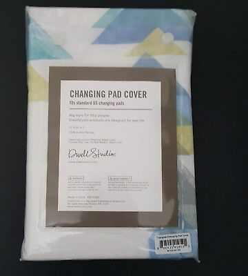 - NWT New Dwell Studio Changing Pad Cover Triangles 100% Cotton Percale