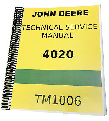 4020 John Deere Technical Service Shop Repair Manual Spiral Bound Book