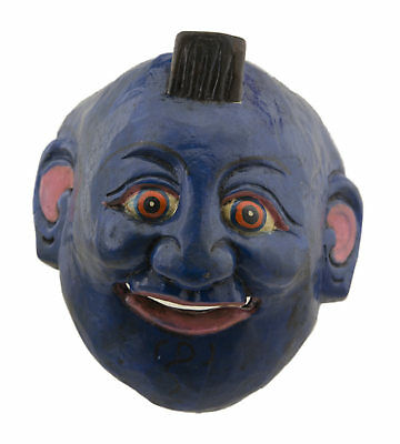 Mask nepalese Protector blue Shaman tantric primitive Himalaya Tibet 9468
