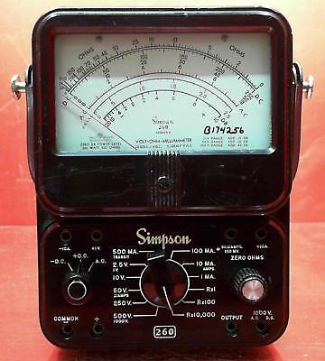 Simpson 260 Series 6 Vom Multimeter Snb174256