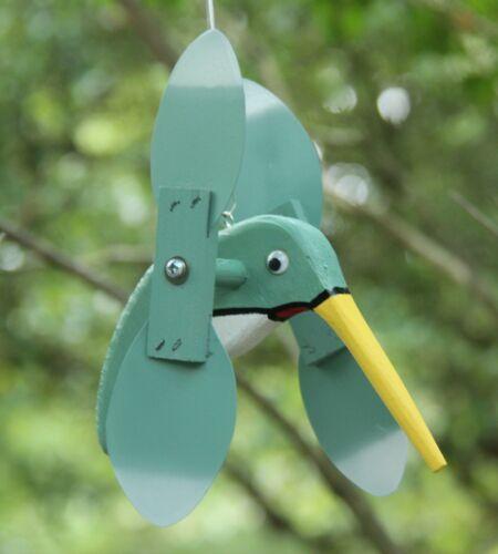 Light Green Hummingbird Mini Whirligigs Whirligig Windmill Yard Art Hand made