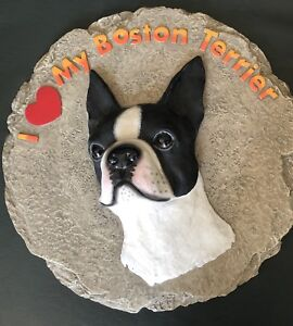 Boston Terrier stepping stone