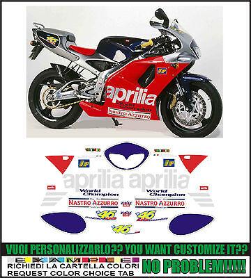 kit adesivi stickers compatibili rs 125 1998 replica valentino rossi