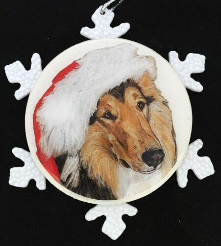 Collie Dog Original Art Christmas Ornament