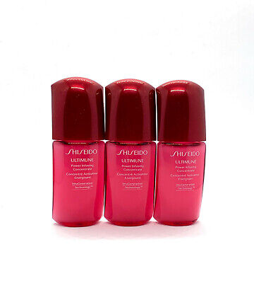 Lot of 3 Shiseido Ultimune Power Infusing Concentrate 0.33 oz / 10ml Each NEW