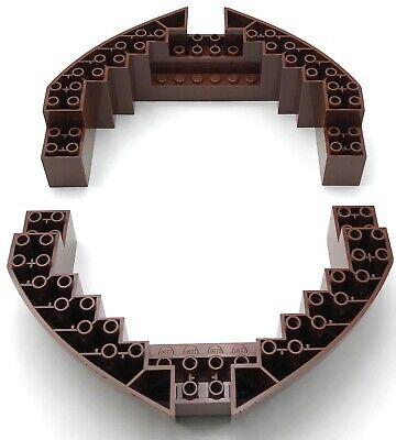 Lego 2 Nuevo Rojizo Marrón Barco Casco Ladrillo 16 x 10 x...