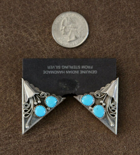 Sterling Silver and Turquoise Collar Tips