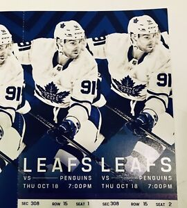 Leafs vs Penguins tickets October 18th aisle seats
