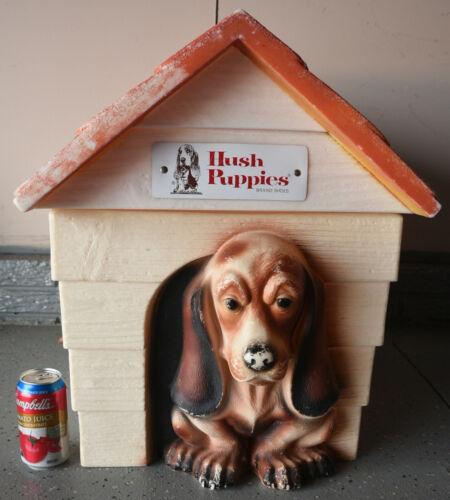 Vintage HUSH PUPPIES Brand Shoes Advertising Basset Hound Toy Box 2-Pc Storage