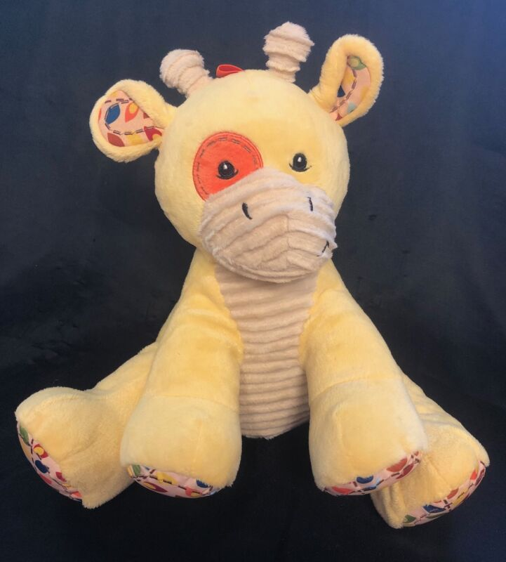 "Dex Cinch Yellow GIRAFFE Sleep Soother 11"" Plush Heartbeat Nature Sounds Baby"