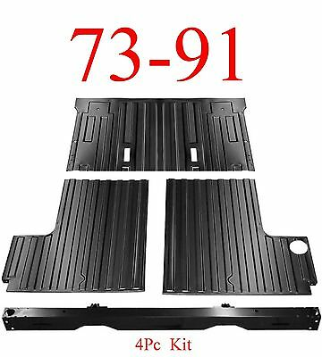 4Pc 73 91 Chevy Blazer Rear Cargo Floor & Tail Pan Section, GMC Jimmy (Floor Pan Section)