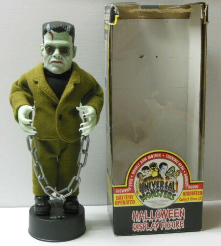 Vtg 1992 Universal Monsters Telco FRANKENSTEIN Halloween Display Motionette ASIS