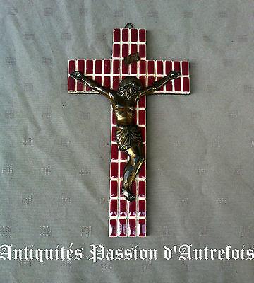B2016455 - Crucifix croix en céramique avec Christ en régule