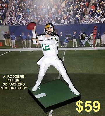 Custom A. Rodgers #12 QB GB Packers (color rush uniforms) Mcfarlane figure   - Packers Uniforms